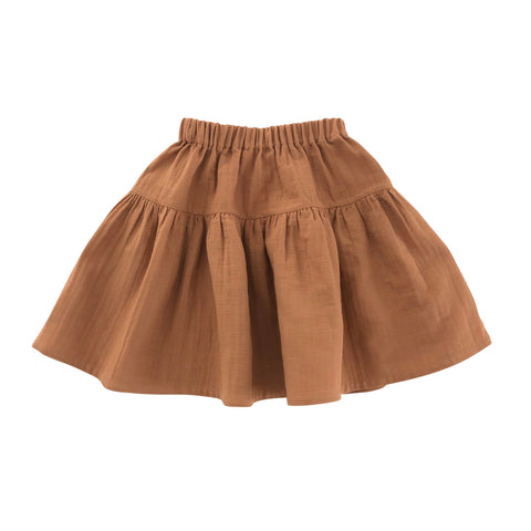liilu nala skirt in terracotta color