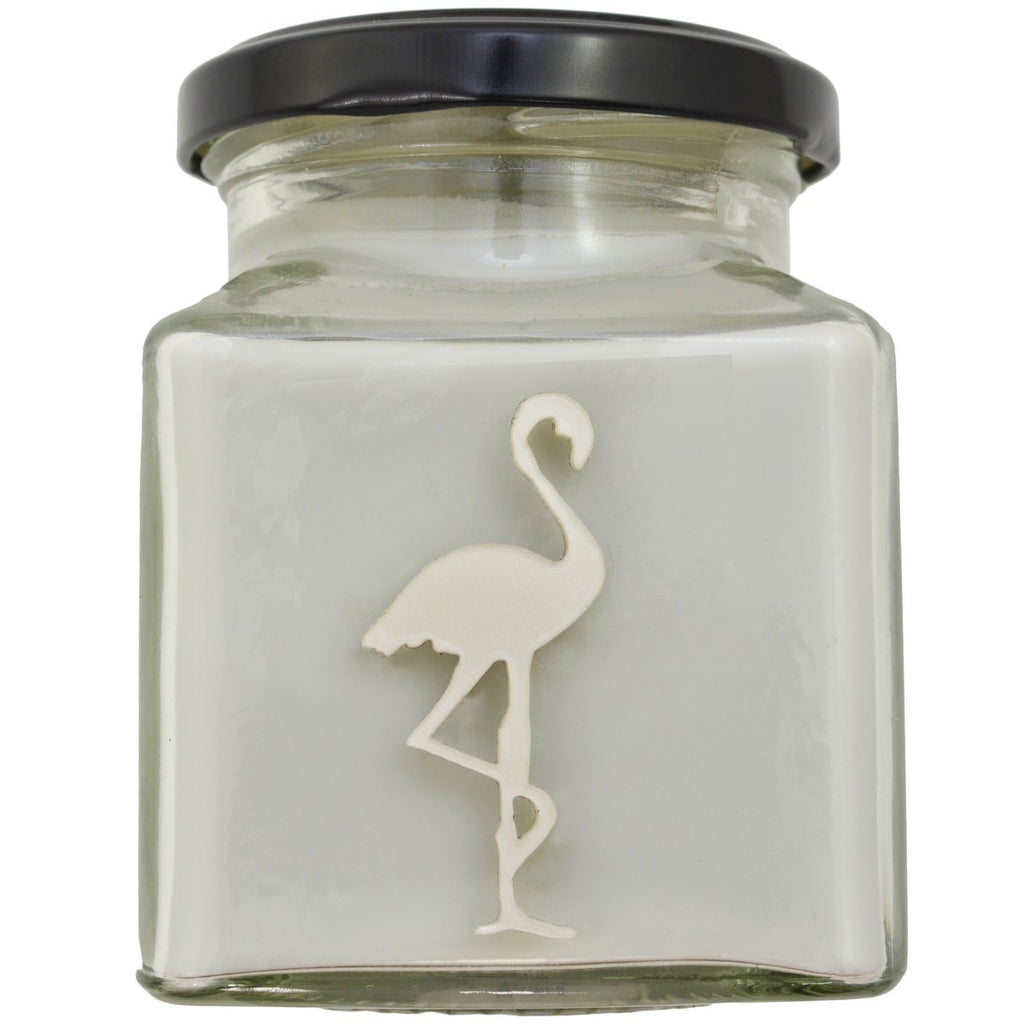 Flamingo Candles ~ Thunderstorm Classic Square Jar Candle