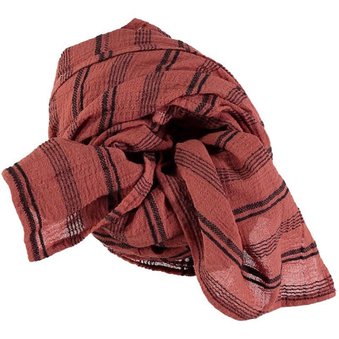 stripes foulard from buho in terracotta