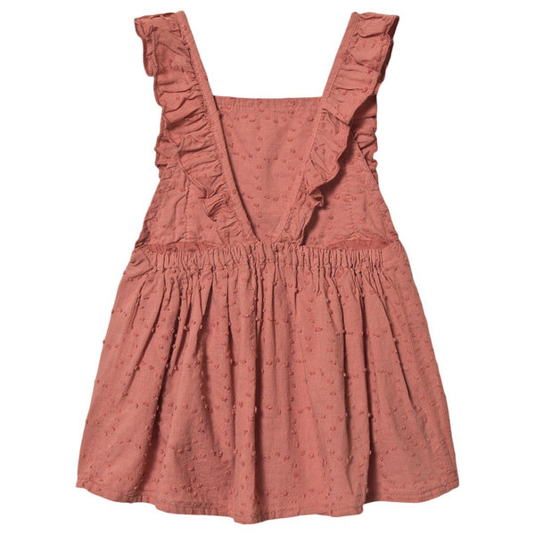 emilie plumeti dress brick color buho barcelona
