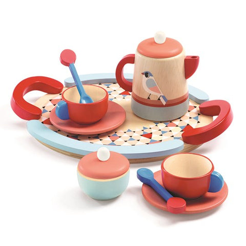 tea time djeco set madera kit rojo y azul