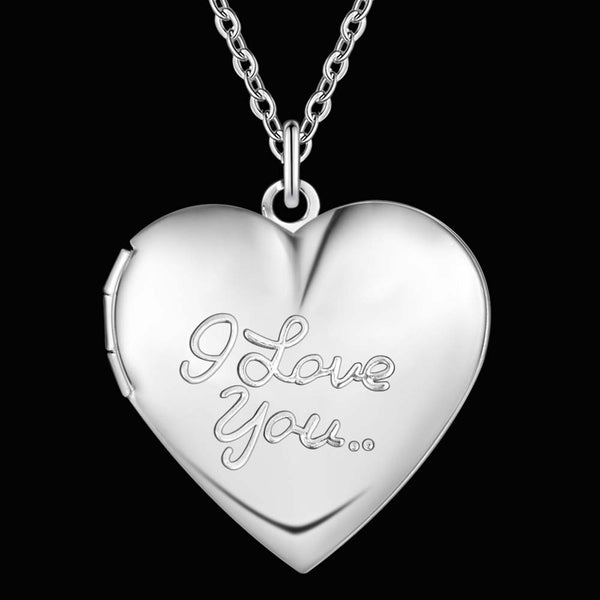 Silver Love Locket Necklace- LS AN1352