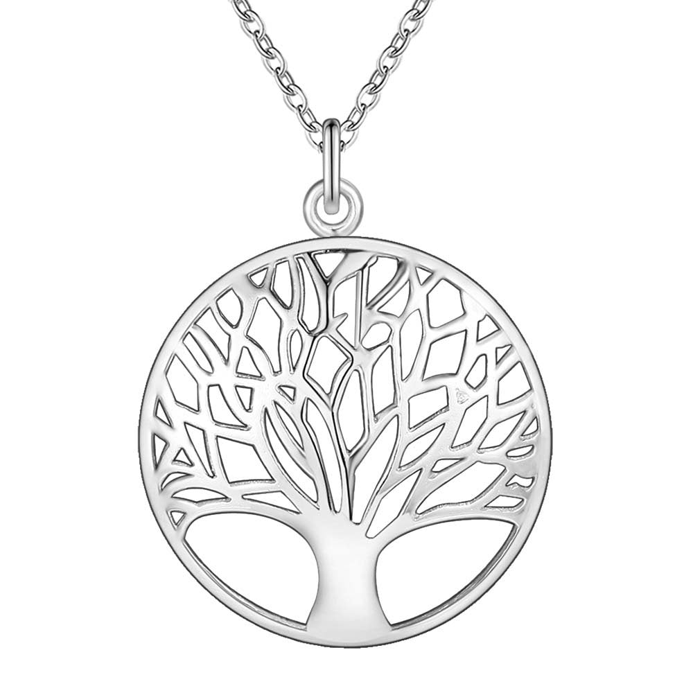Silver Tree of Life Necklace- LS AN677