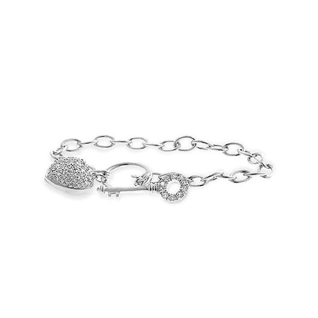 Heart and Key Bracelet - B01393R-C01