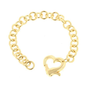 Golden Heart Bracelet - B01396G-V00