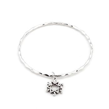Solitaire Star Charm Bangle - B01455SW-V02