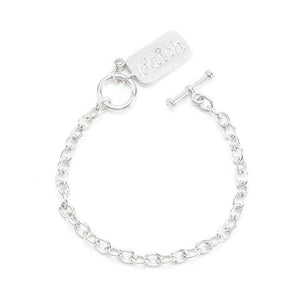 Rhodium Plated Finish Faith Charm Bracelet - B01469R-C01