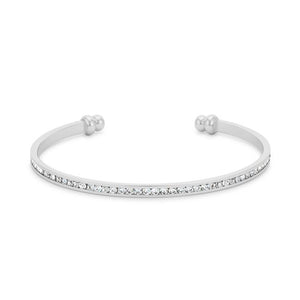 Channel-Set Clear Crystal Cuff - BC00072R-C02
