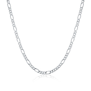 Silver Figaro Chain 18inch 2mm LSC013-18