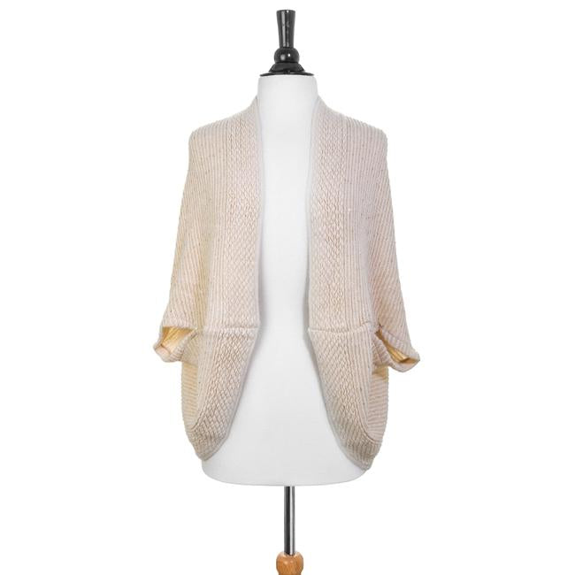 Off White Knitted Shawl - CO-CMF4380-WHITE