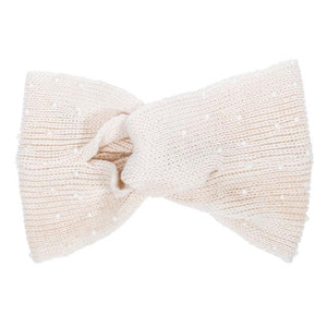 Off White Alison Knotted Knit Headband - CO-CMH1116-WHITE