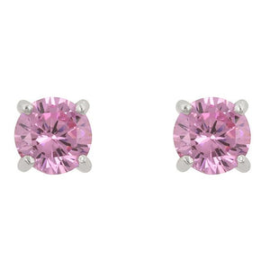 Pink Cubic Zirconia Stud Earrings - E01220RS-S12-6.25MM