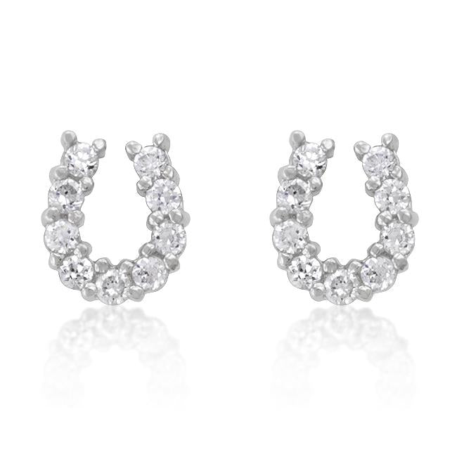 Lucky Horseshoe Earrings - E01280RS-C01