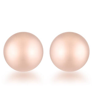Julia Rose Gold Sphere Stud Earrings - E01887AV-V00-8MM