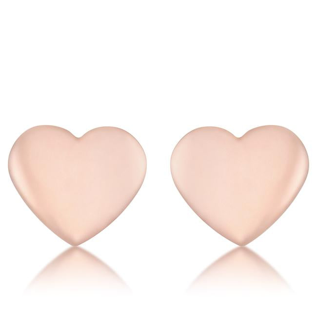Janet Rose Gold Heart Stud Earrings - E01891A-V00