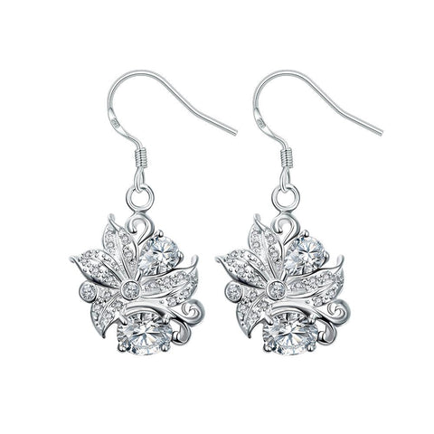 Silver Earrings LSE025-D
