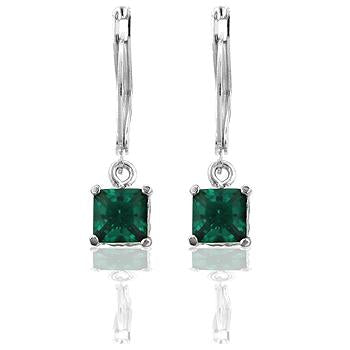 Forest Cubic Zirconia Drop Earrings - E50035R-C40