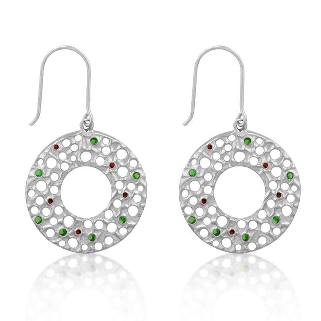 Red and Green Earrings - E50060R-V01
