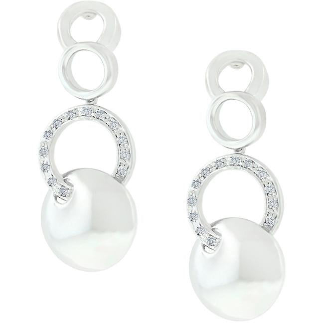 Silver Stronghold Circle Earrings - E50064R-C01