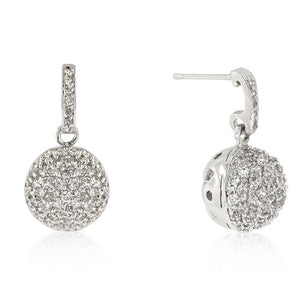 CZ Ball Dangle Earrings - E50085R-C01