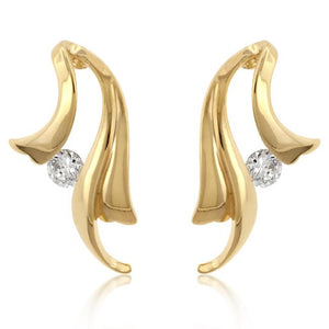 Solitaire Winged Earrings - E50096G-C01