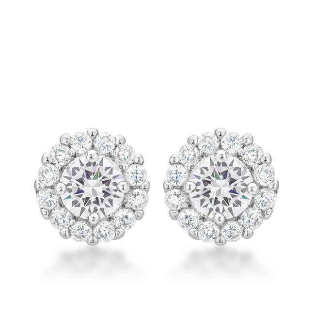 Bella Bridal Earrings in Clear - E50163R-C01