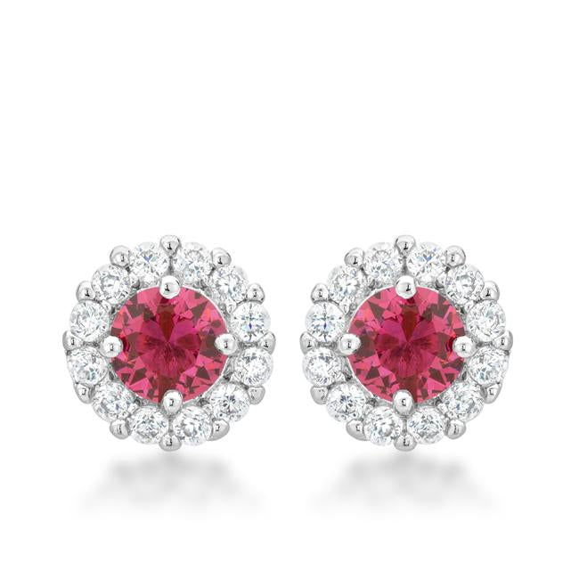 Bella Bridal Earrings in Pink - E50163R-C17