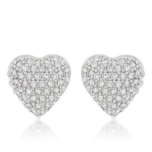 Special Pave Heart Earrings - E50164R-C01