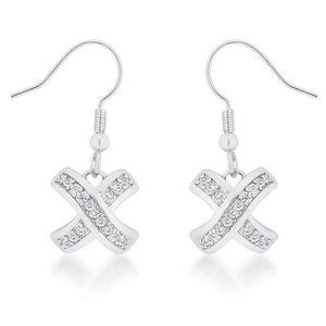 Timeless Pave Drop Earrings - E50166R-C01