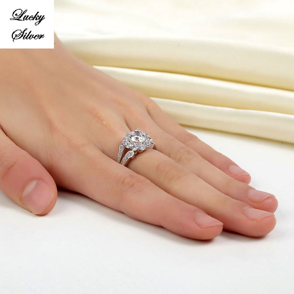 1.25 Carat Solid 925 Sterling Silver Bridal Wedding Engagement Ring LS CFR8255