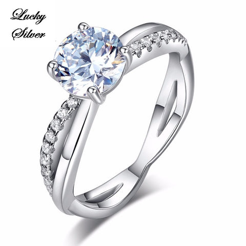 1.25 Carat Solid 925 Sterling Silver Bridal Wedding Engagement Ring LS CFR8249