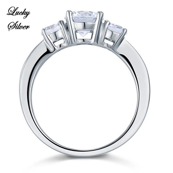 1.25 Carat Solid 925 Sterling Silver Bridal Wedding Engagement Ring LS CFR8065