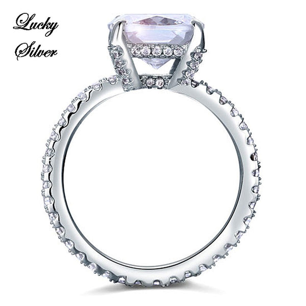 5 Carat Cushion Cut Solid 925 Sterling Silver Bridal Wedding Engagement Ring LS CFR8092