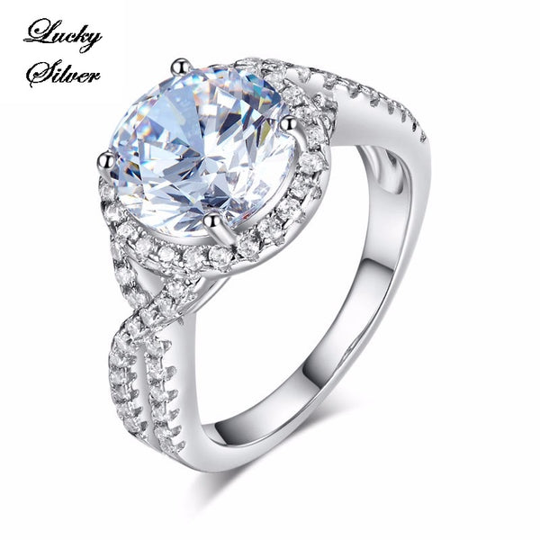 3 Carat Solid 925 Sterling Silver Bridal Wedding Engagement Ring LS CFR8243
