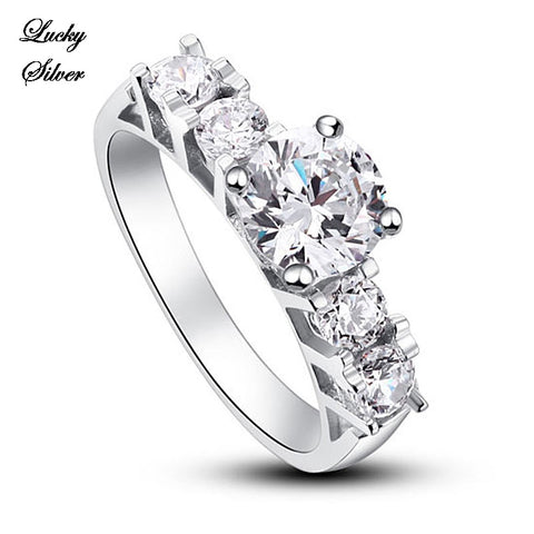 1.8 Carat Round Cut Solid 925 Sterling Silver Bridal Wedding Engagement Ring - LS CFR8012