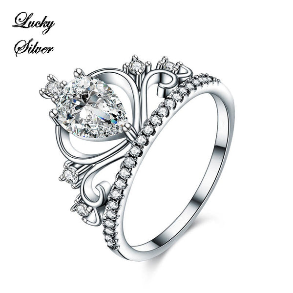 1 Carat Pear Cut Solid 925 Sterling Silver Bridal Wedding Engagement Ring LS CFR8278