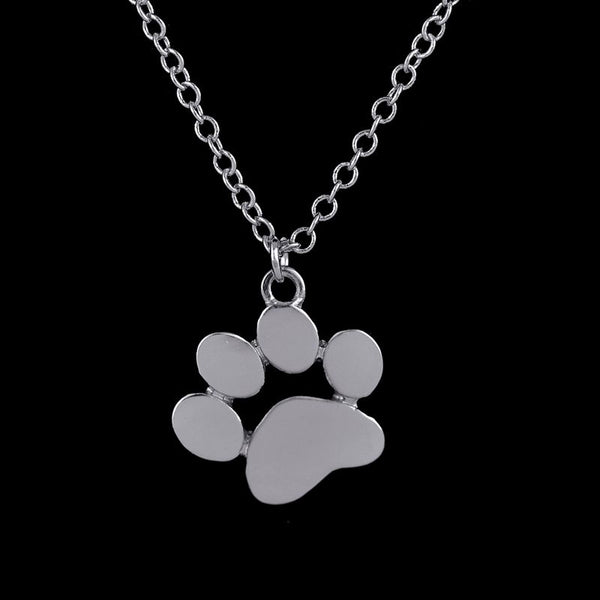 Silver Designer Dog Paw Necklace
