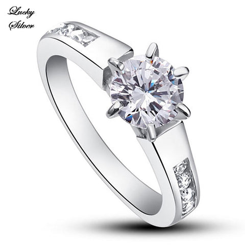 1.25 Carat Round Cut Solid 925 Sterling Silver Bridal Wedding Engagement Ring LS CFR8013