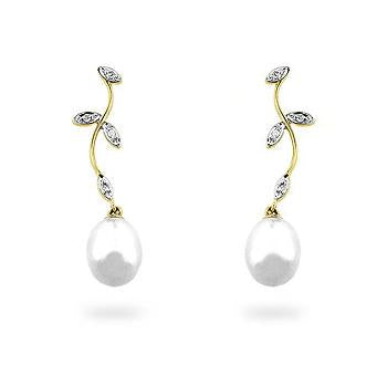 Pearl & Diamond Earrings - IE-LE62275Y
