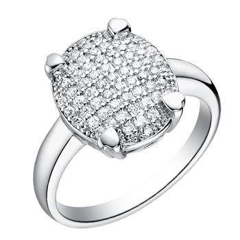 White Gold Plated Ring LSJ065