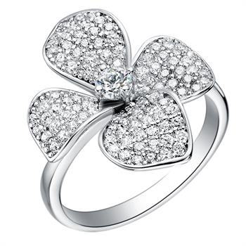White Gold Plated Ring LSJ067