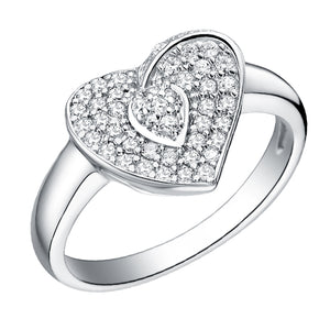 White Gold Plated Ring LSJ071