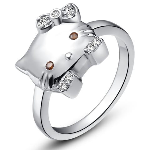 White Gold Plated Kids Ring LSJ399