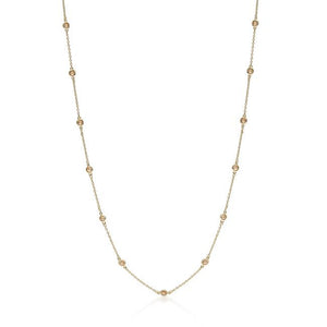 60 Inch Champagne Cubic Zirconia Necklace - N01033G-V72-60IN