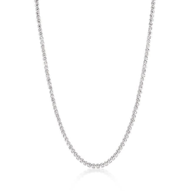 Long Elegant Cubic Zirconia Necklace - N01280R-C01