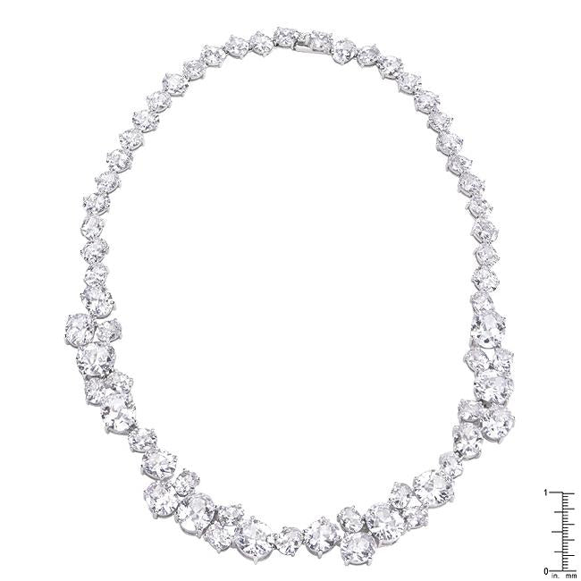 Bejeweled Cubic Zirconia Collar Necklace - N01281R-C01