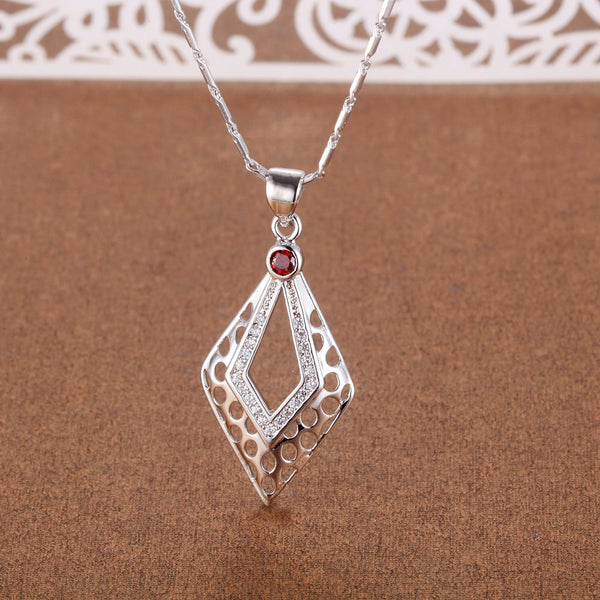 White Gold Plated Necklace LSN1386