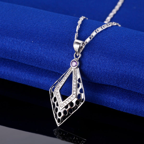 White Gold Plated Necklace LSN1387