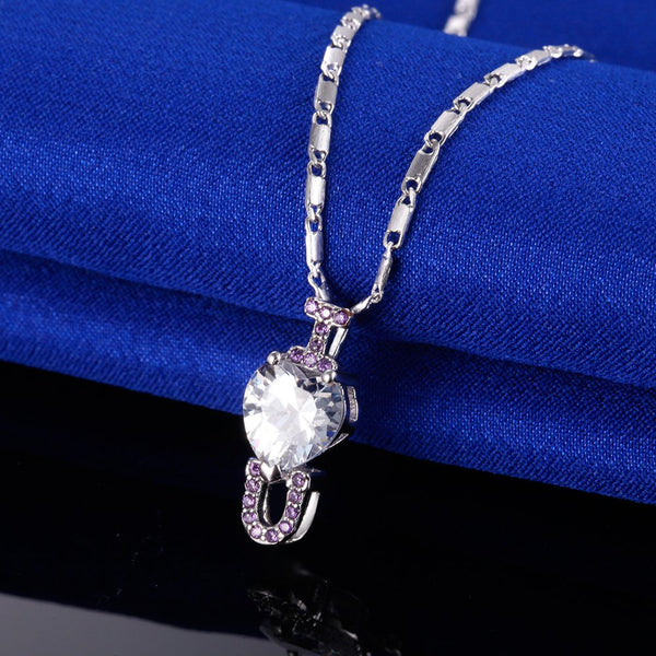 White Gold Plated Necklace LSN1393