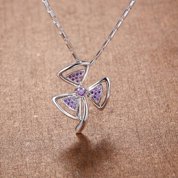 White Gold Plated Necklace LSN1401
